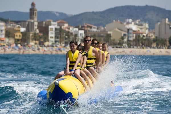 Actividades aquáticas en Calella
