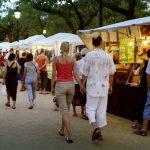 Feria de artesanía en Pineda de Mar