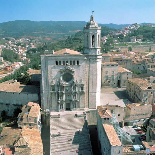 Girona, Catedral vista aérea