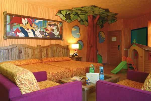 Hotel Port Aventura, Habitación Woody