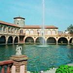 Fachada principal del Hotel Termes de Montbrió (Costa Daurada)