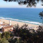 Panorámica de las playas de Montgat en el Maresme