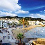 Playa de Sant Sebastià en Sitges, Costa del Garraf