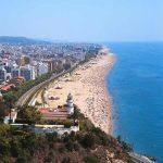 Playas de Calella, panorámica de la Costa