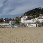 Pueblo de Montgat desde la playa