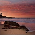 Puesta de sol en la playa de Altafulla