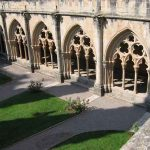 Vista general del claustro del Monasterio de Poblet
