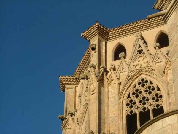 Detalle de la iglesia del Monasterio de Poblet