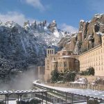 Vista nevada de Montserrat
