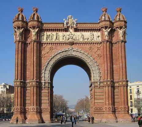 Arc de Triomf en Barcelona