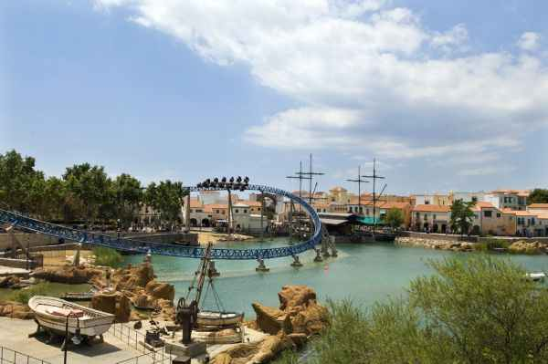 Área temática de la Mediterrània de Port Aventura, Vista panorámica