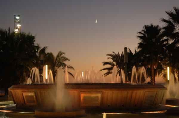 Espectáculo de la fuente luminosa (ornamental) de Salou