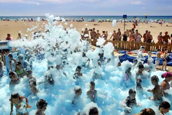 Playa de Malgrat de Mar, Actividades para niños