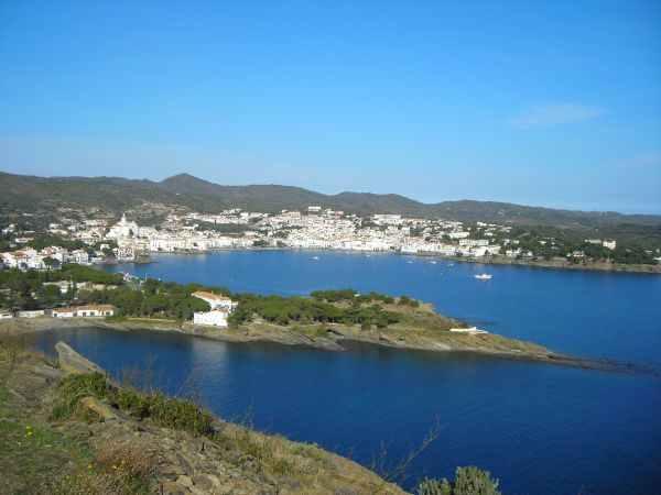 Vista del litoral de Cadaqués, Costa Brava