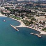 Vista aérea de las playas de Cambrils, Costa Daurada