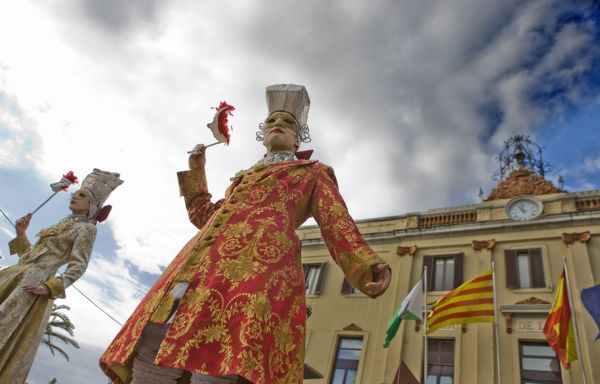 Esculturas humanas en Lloret de Mar