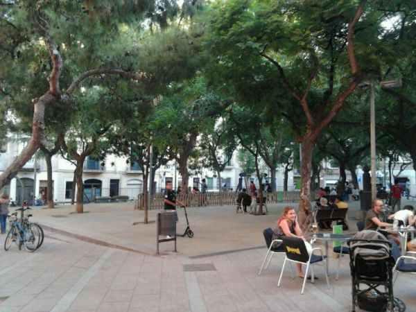 Plaça del Nord en Barcelona