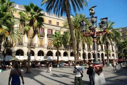 Plaça Reial en Barcelona