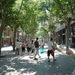 Rambla de Poblenou en Barcelona