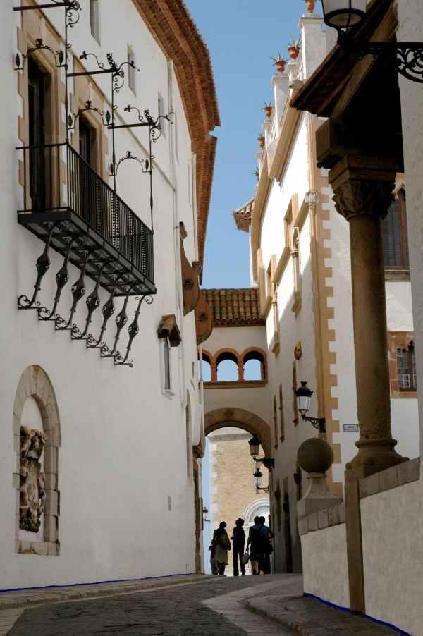 Casco Antiguo de Sitges en la Costa del Garraf