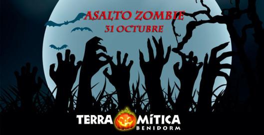 Asalto zombie Halloween 2016 Terra Mítica